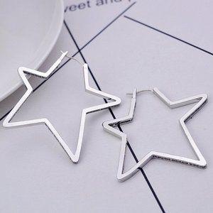 Henri Bendel Hollow Silver Star Earrings